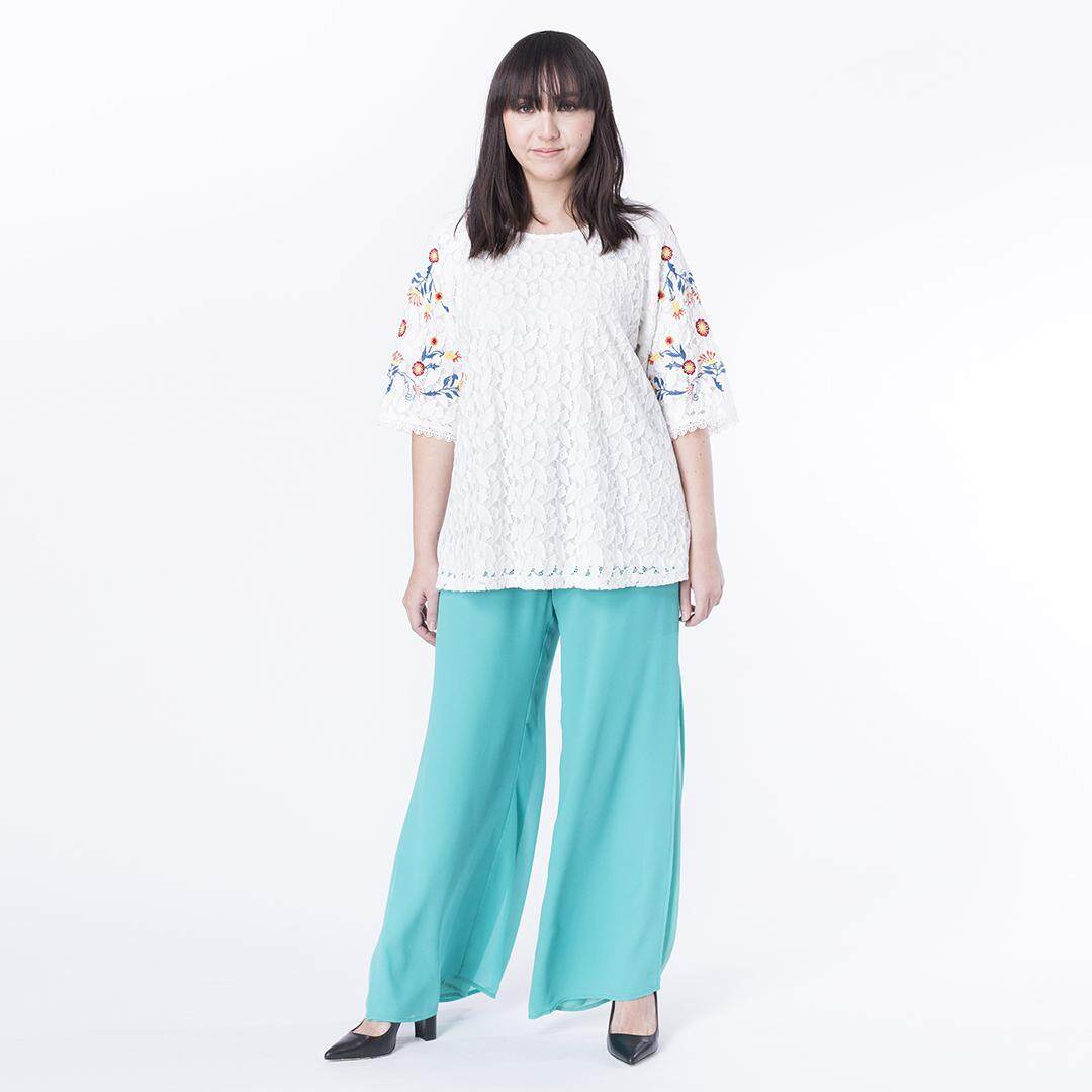 4346ce4312e MS. READ Signature Ultra-Stretch Cropped Pants (Off White)