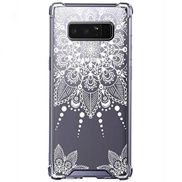 Galaksi Note 8 Case, eraglow Hibrida Ramping Sesuai Keras Bening Pola Case Jatuh Pelindung Sarung untuk Samsung Galaksi Note 8 2017 Melepaskan (Renda bunga) -Internasional