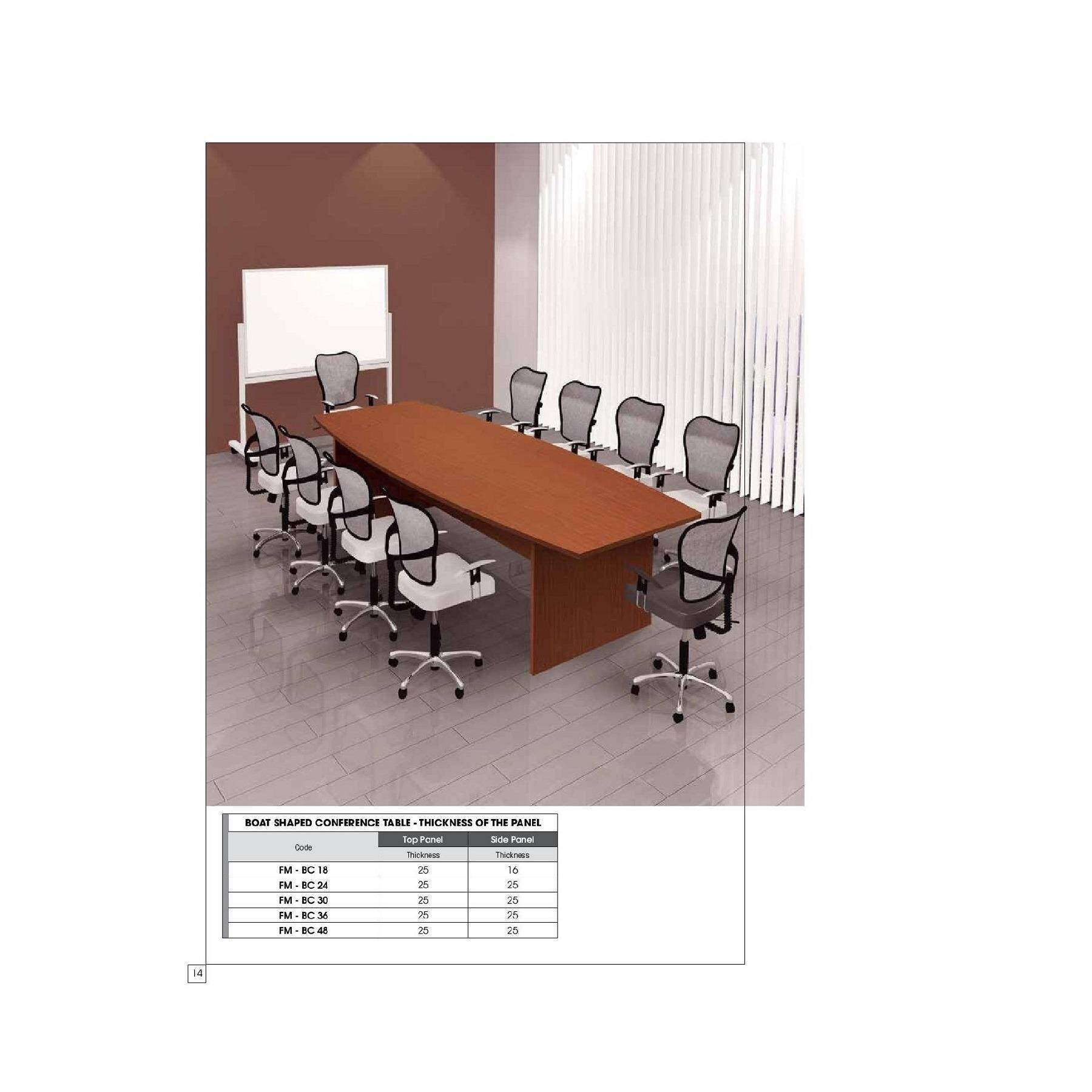 FREE Delivery Klang Valley Boat Shape Meeting Conference Table X - 8 person conference table