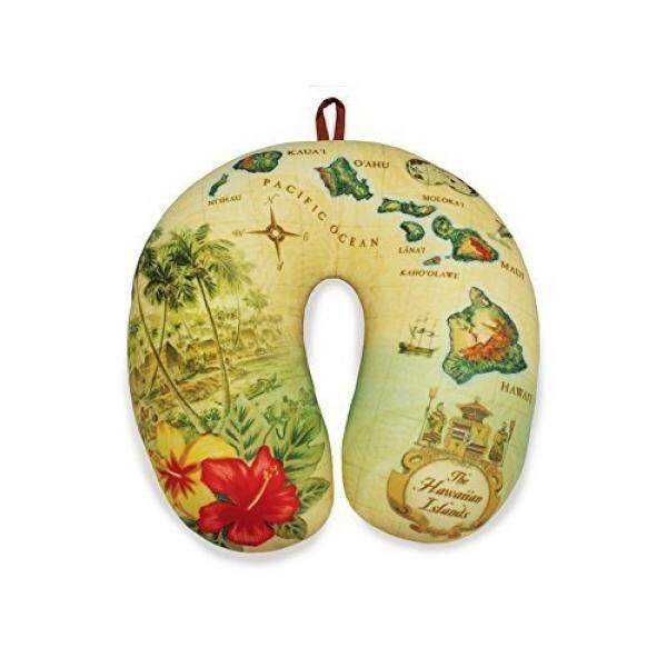 Travel Neck Pillow: Islands of Hawaii - Tan - intl