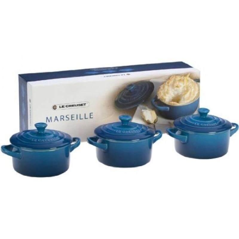Le Creuset Stoneware Petite Round Casserole Gift Set, Marseille - intl Singapore