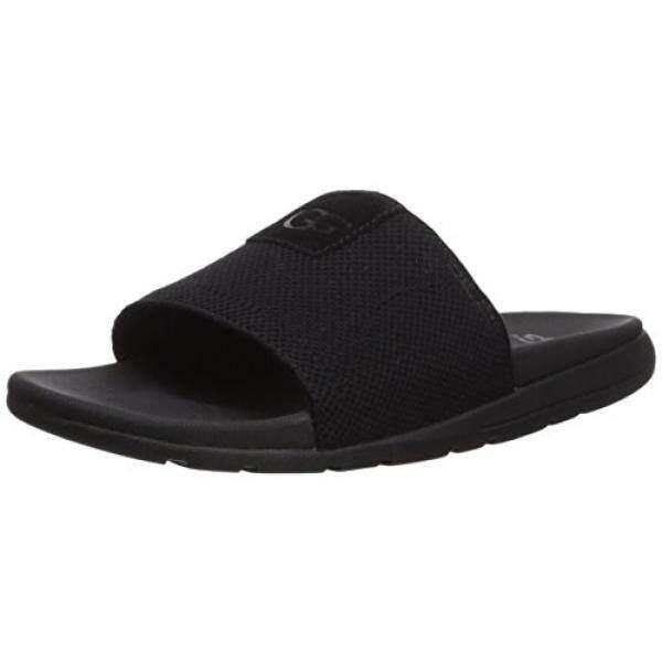 UGG Mens Xavier Hyperweave Slide Sandal, Black, US