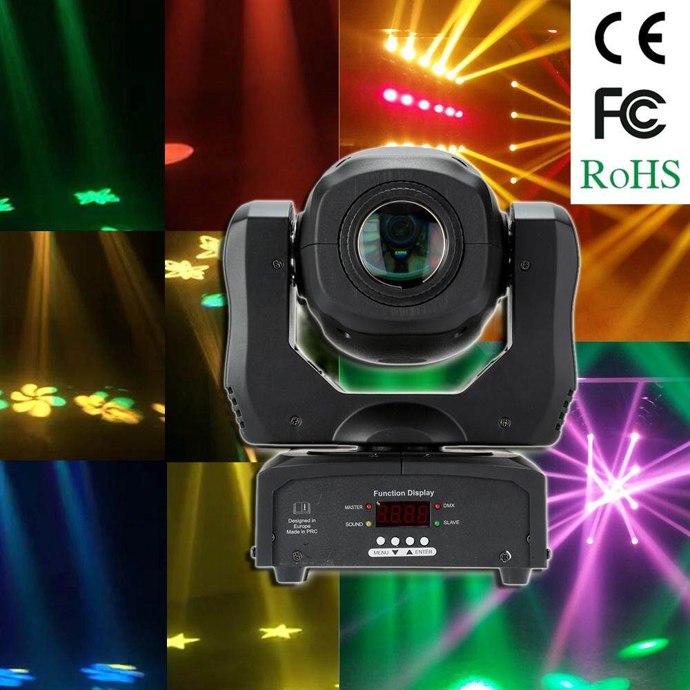 35w Dmx512 Sound Control Auto Rotating 9 / 11 Channels Rainbow 8 Colors Changing Head Moving Light Led Stage Gobo Pattern Lamp For Disco Ktv Club Party - Intl By Tomtop.