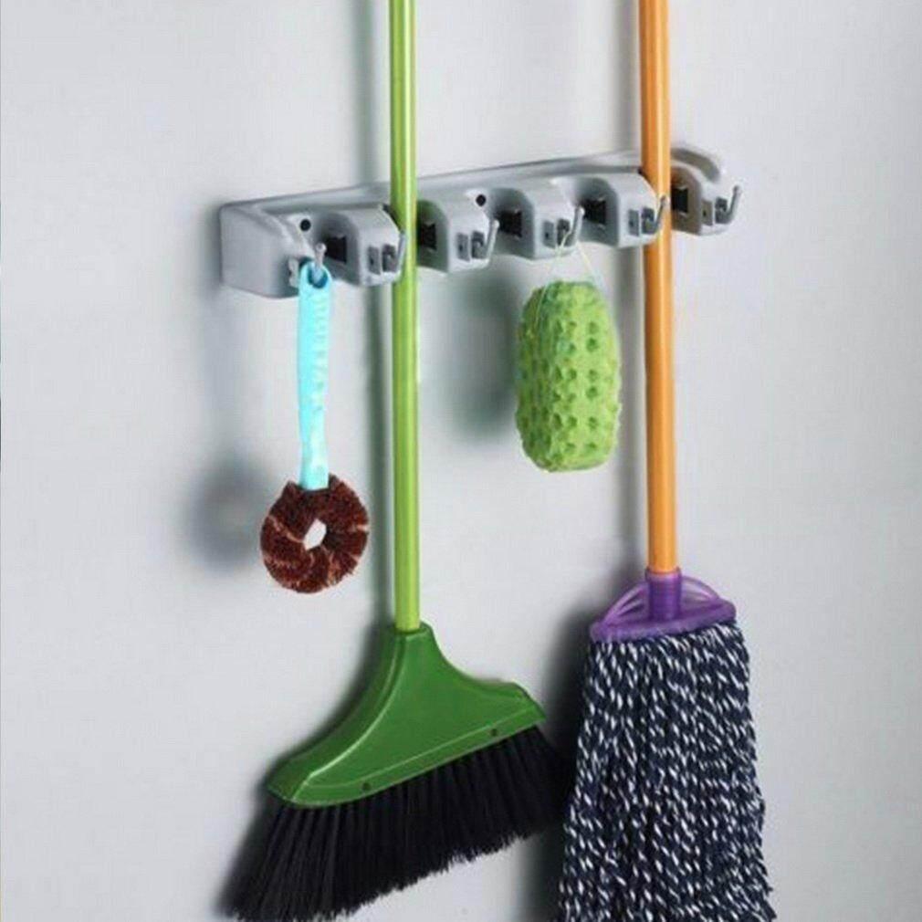 Yika Wall Mounted Mop Organizer Holder Brush Broom Hanger Storage Rack Kitchen Tool