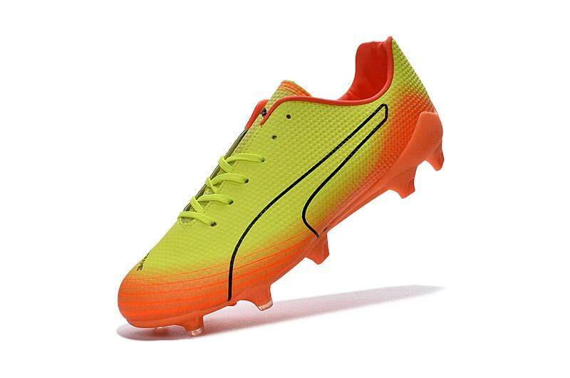 Timed Promotions New Football Shoes evoSPEED Fresh SG FG AG Soccer Mens Size 39-45 Outdoor Football Sneakers EC61-4 (Yellow/Orange) - intl