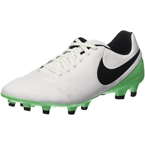 Nike Mens Tiempo Genio II Leather FG Soccer Cleat White, Electric Green - intl