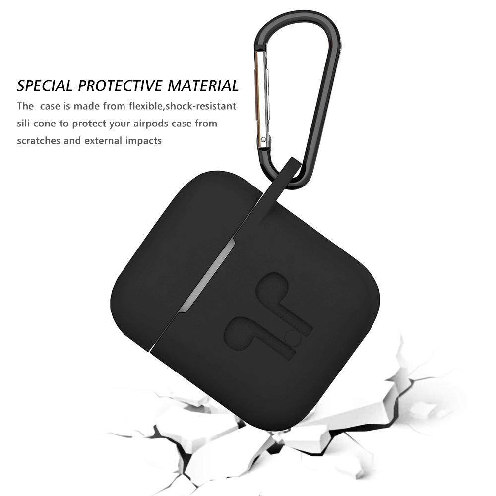 ... Teekeer Soft Silicone Cover For Apple Airpods Waterproof Shockproof Protector Case Sleeve Pouch For AirPods Earphone ...