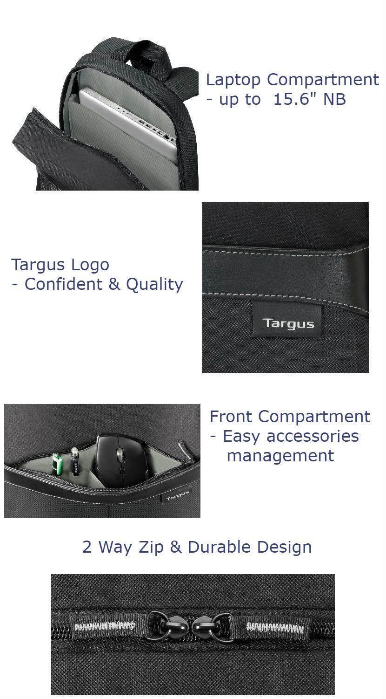 09020f5b4 Targus Sport Standard 15 Nylon Notebook Backpack | Sabis Bulldog ...