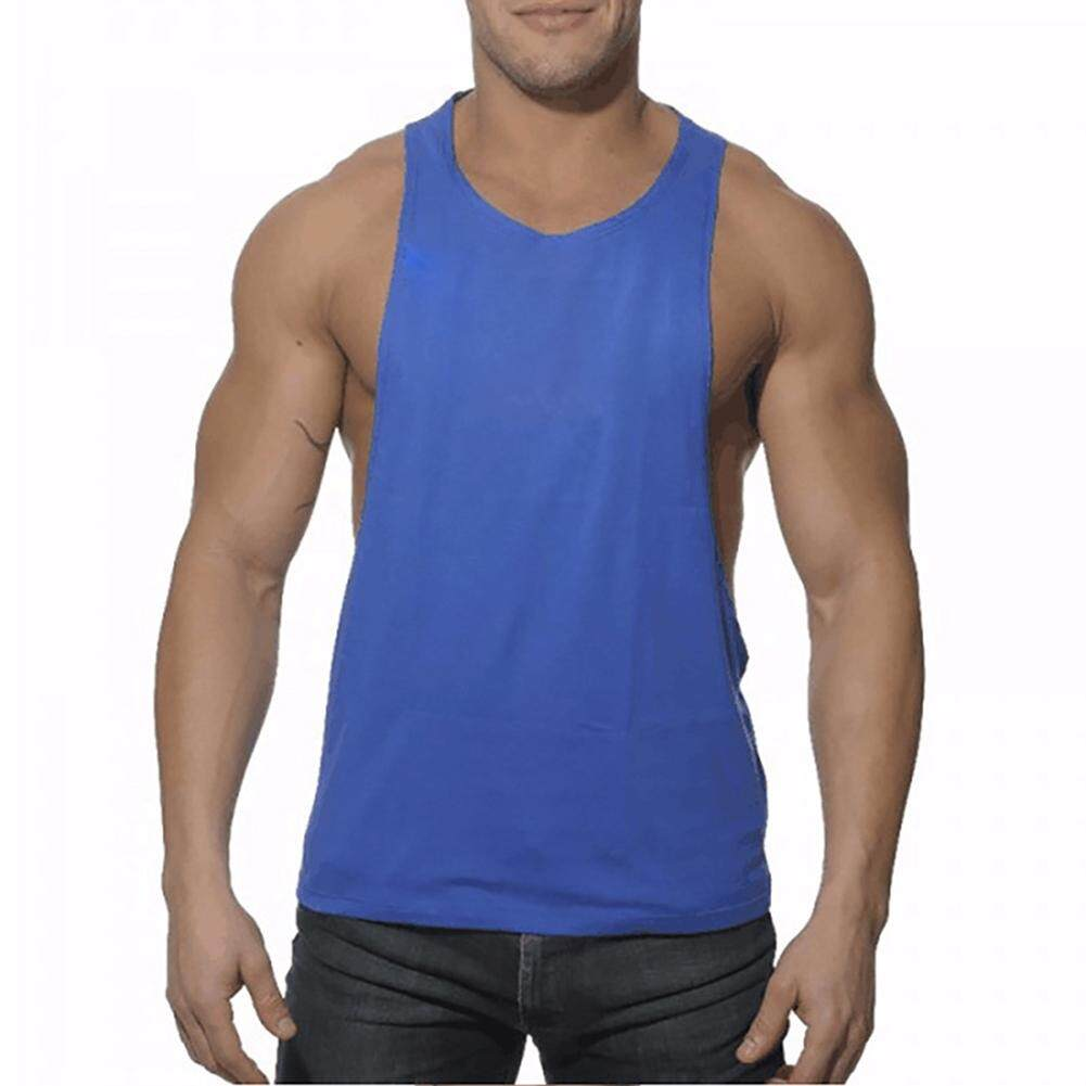 Buy Latest Men Tank Tops Casual Slim N Lift Body Shaping For Man Classics Cotton Large Slit Workout Muscle Tanks Vest Undershirts Intl