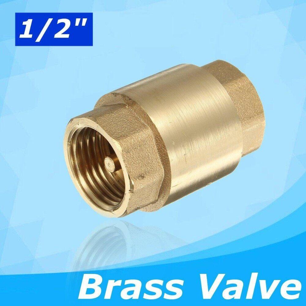 1/2 Female to Female Non-return Check Brass Ball Valve Water Tank Spring Loaded