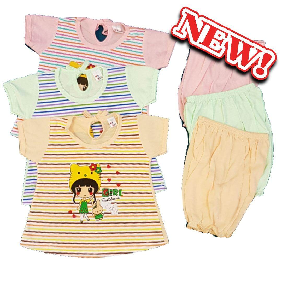 Summer Baby Girls Casual Wear 3 Set (Fit To 6-12Mth )
