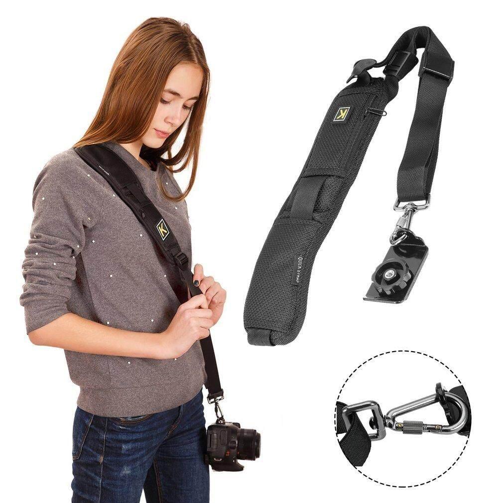 Ge Single Shoulder Sling Belt Strap for DSLR Digital SLR Camera Quick Rapid - intl