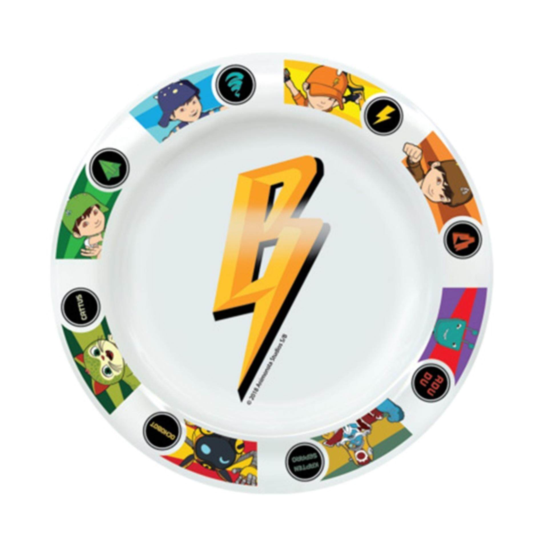 Boboiboy Galaxy Soup Plate 8 Inches White Colour