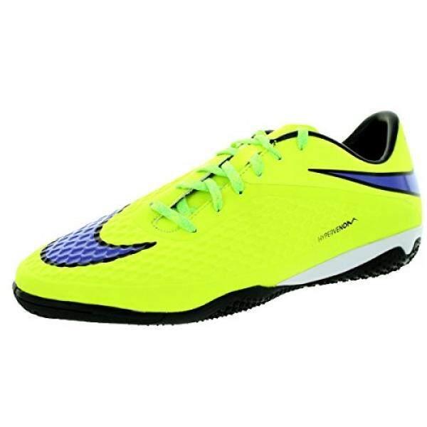 NIKE Pria HYPERVENOM PHELON IC Volt/Persian Violet/HT Lv/Blck Sepatu Sepak Bola Dalam En AS- internasional