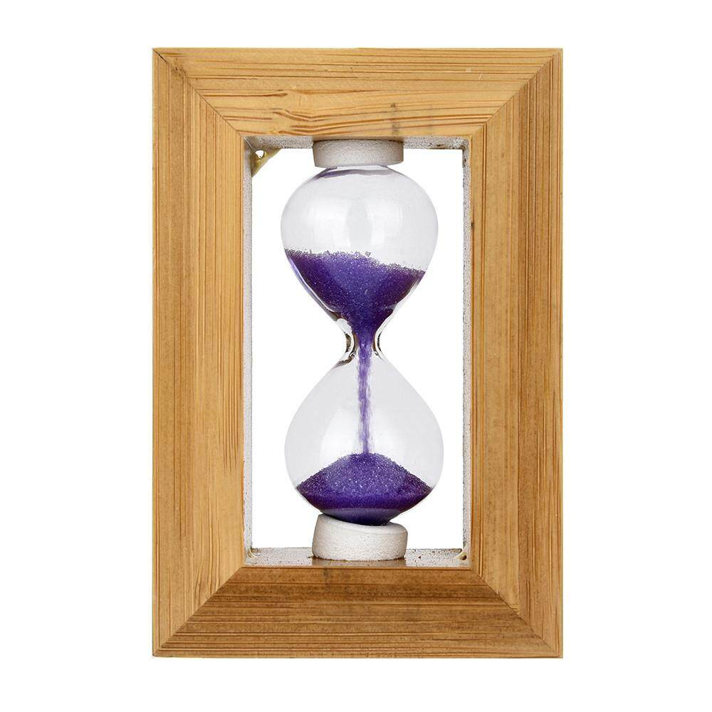 Features Tertran Fashion Home Decor Wood Frame Glass Sand Hourglass ...