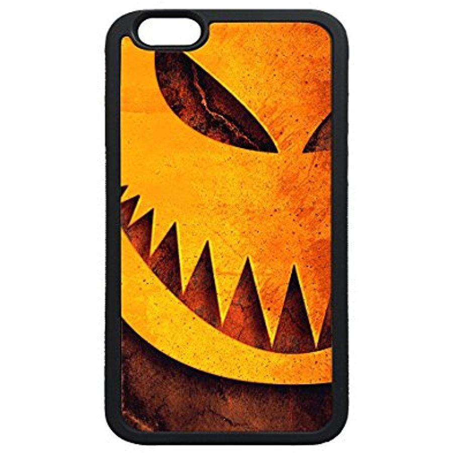 iPhone 6 6s Plus Case,Halloween Pumpkin Sharp Teeth Illustration Case Cover Protectoer for iPhone 6 6s Plus 5.5inch - TPU Black - intl