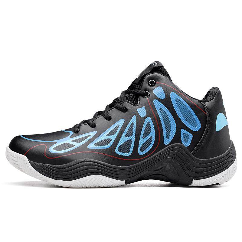 ... Student Men's Outdoors Sports Shoes Basketball Shoes for Men Blue - intl ...