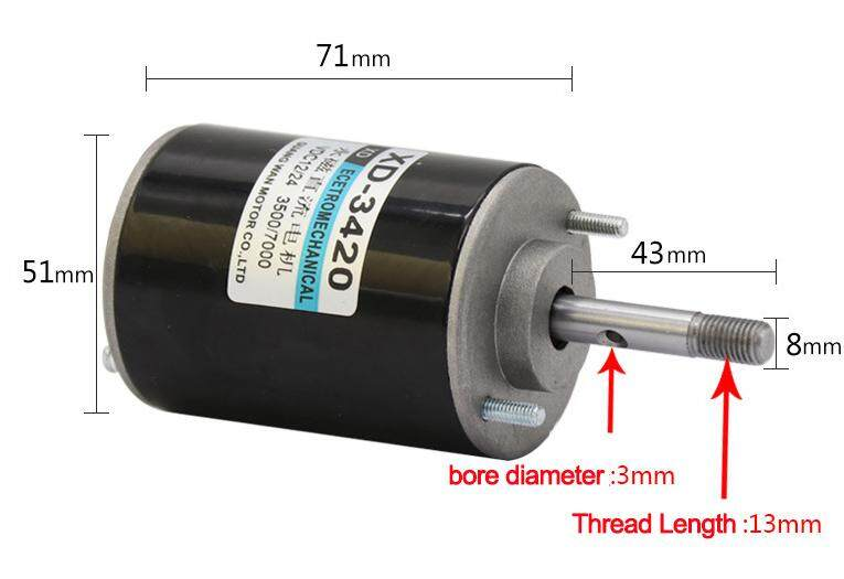 30W Small High Speed CW/CCW Permanent Magnet DC Motor For DIY Generator(12v  3000rpm)
