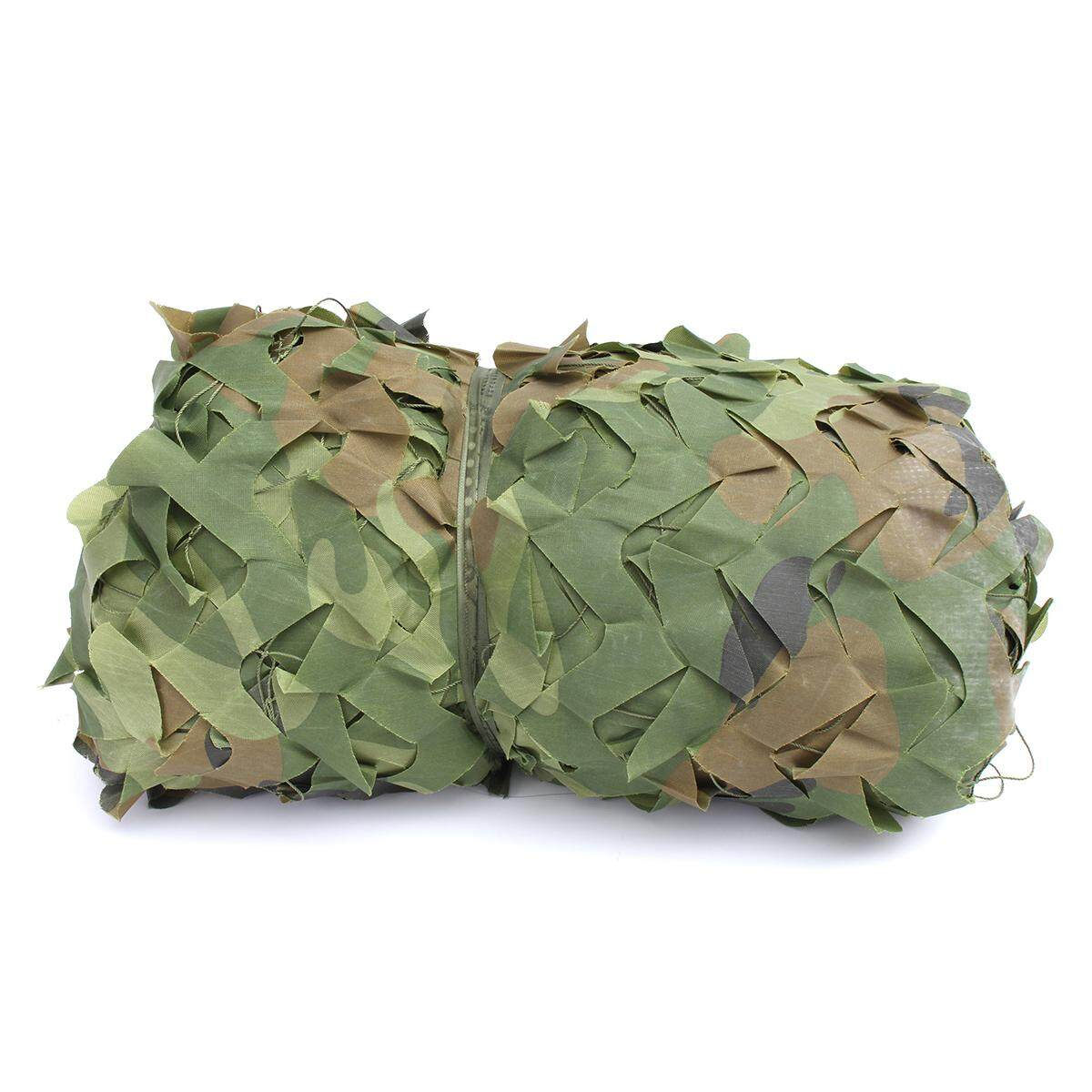 Woodland Leaves Camouflage Netting Army Camo Hunting Hide Camp Cover Net 1.5X10M