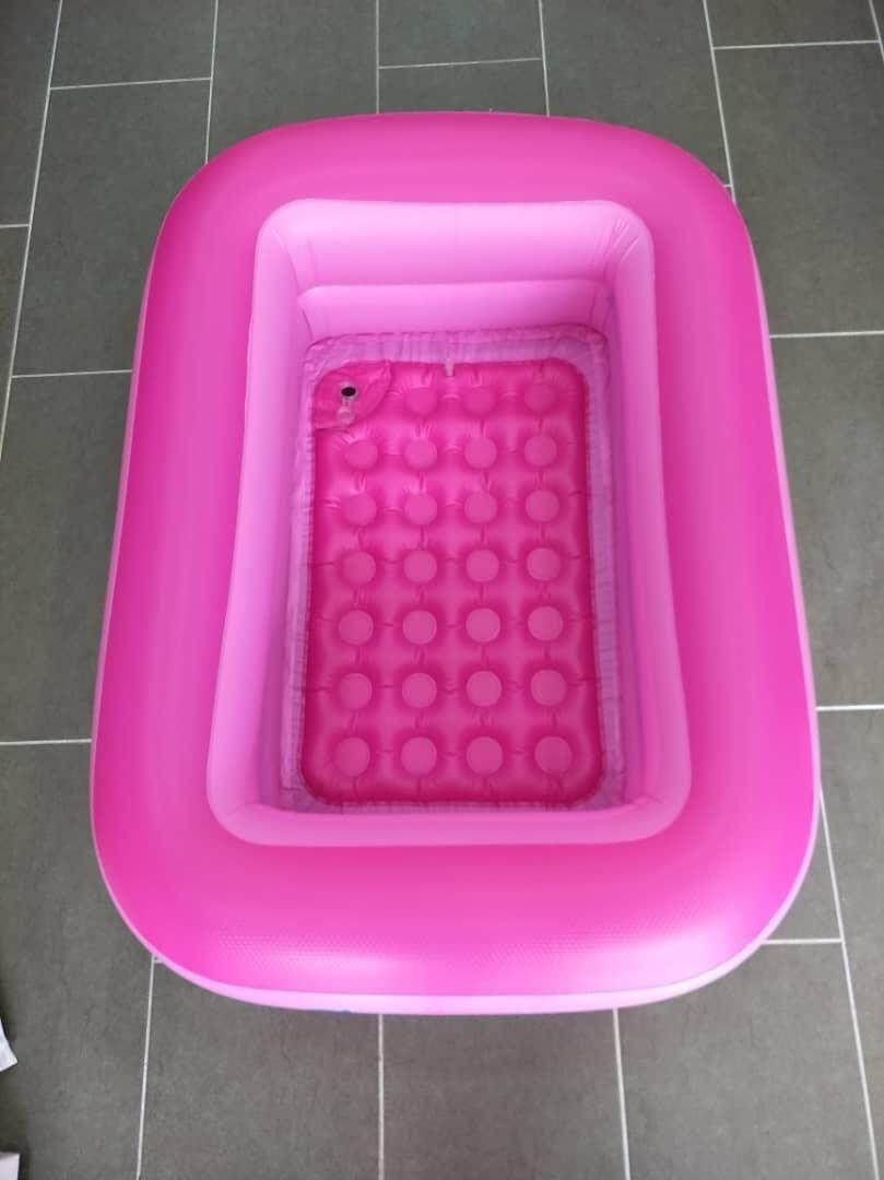 INFLATABLE 2 RINGS RECTANGULAR HAPPY SWIMMING POOL FOR KIDS Toys for boys