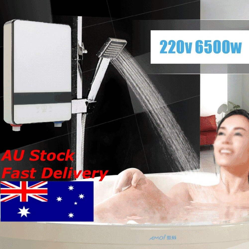 "11"" 220V 6500W Instantaneous Instant Water Heater Induction Heater Thermostat"