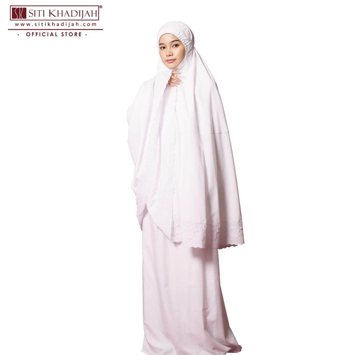Telekung Basic Kain Seri Pagi Siti Khadijah (white)
