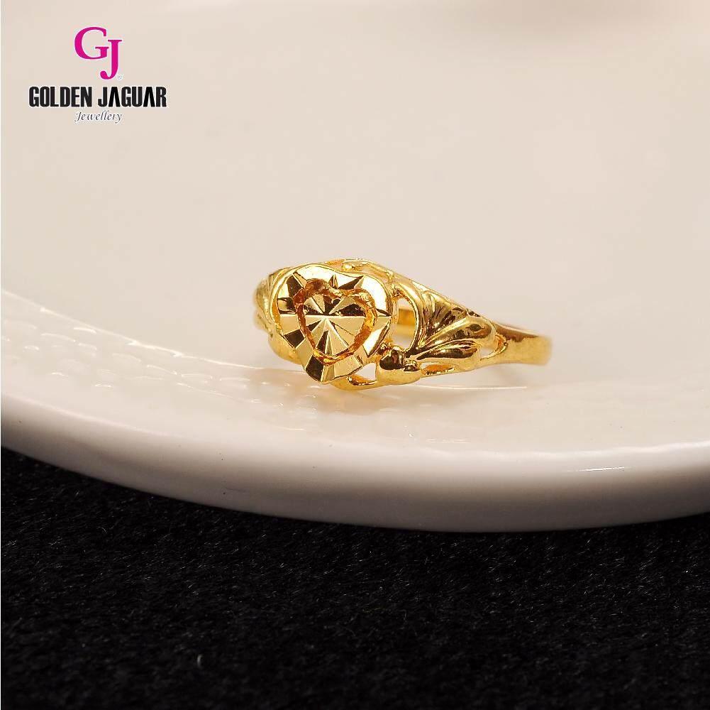 GJ Jewellery Emas Korea 24k - Cincin Mini Love Kikir (81601-2)