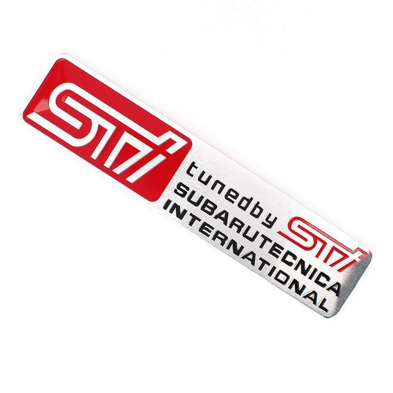 Sale 12 2 6Cm Car Styling Aluminum Alloy Emblem Badge Rear Trunk Sticker For Sti Logo For Subaru Brz Wrx Xv Sti Legacy Outback Impreza Forester Intl Oem On China