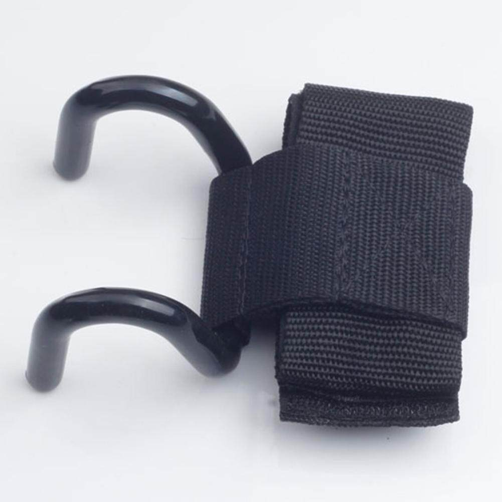 Starmall Dapat Disesuaikan Kuat Besi Kait Genggaman Tali, weight Lifting Tarik-Hingga Strength Latihan Gimnasium Kebugaran Hitam Pergelangan Tangan Penyangga Angkat Straps Spesifikasi: lebar 8 Cm untuk Olahraga Luar Ruangan-Internasional