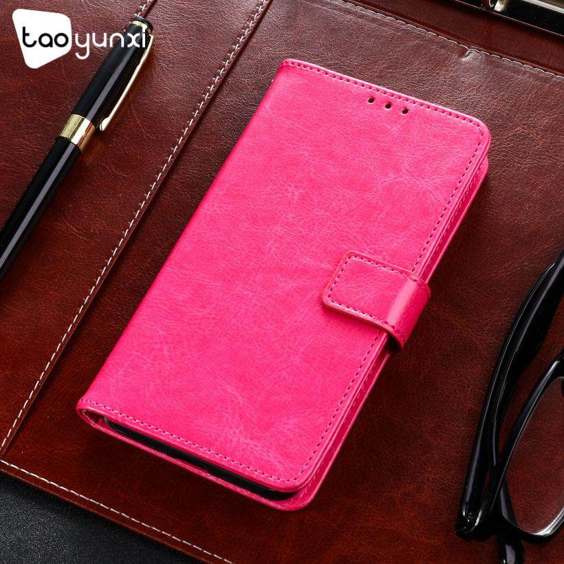Taoyunxi Telepon Kulit PU Case S untuk Alcatel A5 LED OT5085 5085Y 5085D 5.2 Sarung Pelindung Inci Flip Pelindung Dompet Anti Debu Sarung Selular