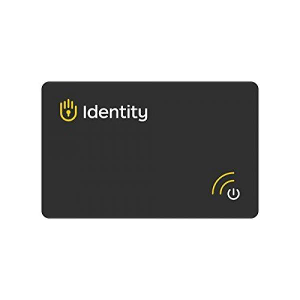 Identity Vault Biometric Password Manager Smart Card with Bluetooth Connectivity and Military Grade Encryption for Offline Password Management, Storage and Security - intl