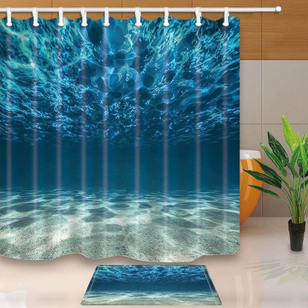 3d Sea Polyester Home Bathroom Decor Fabric Shower Curtain Liner Bath Mat Set Shower Curtain By Glimmer.