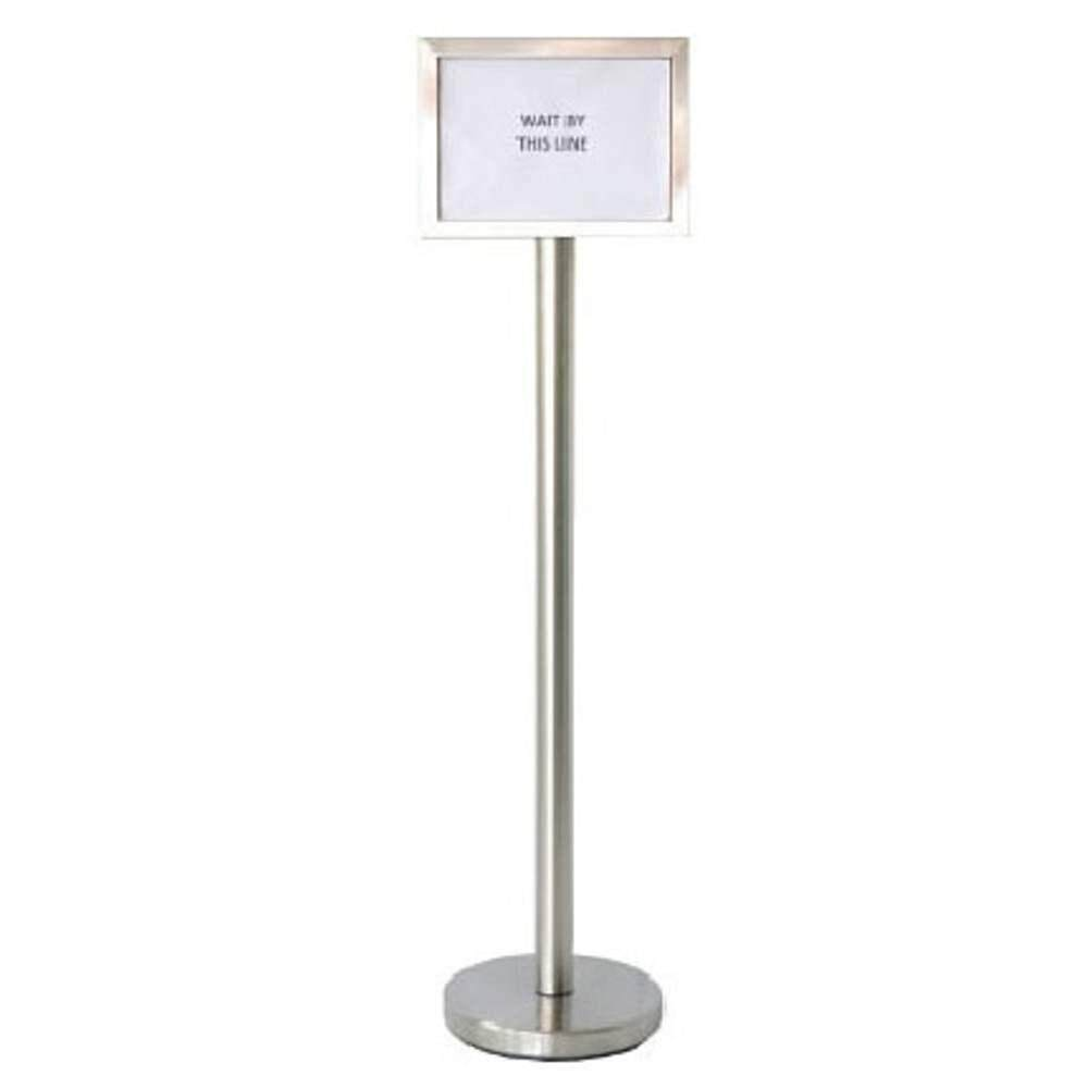 Rivershop (Lanscape) Stainless Steel Display Sign Board Stand SBS-022/SS-A4