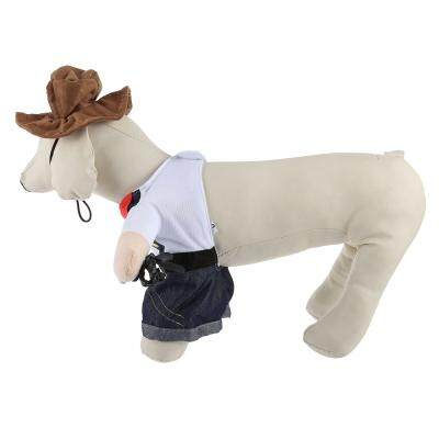 Funny Pet Dog Cat Halloween Costume Clothes (DENIM BLUE)