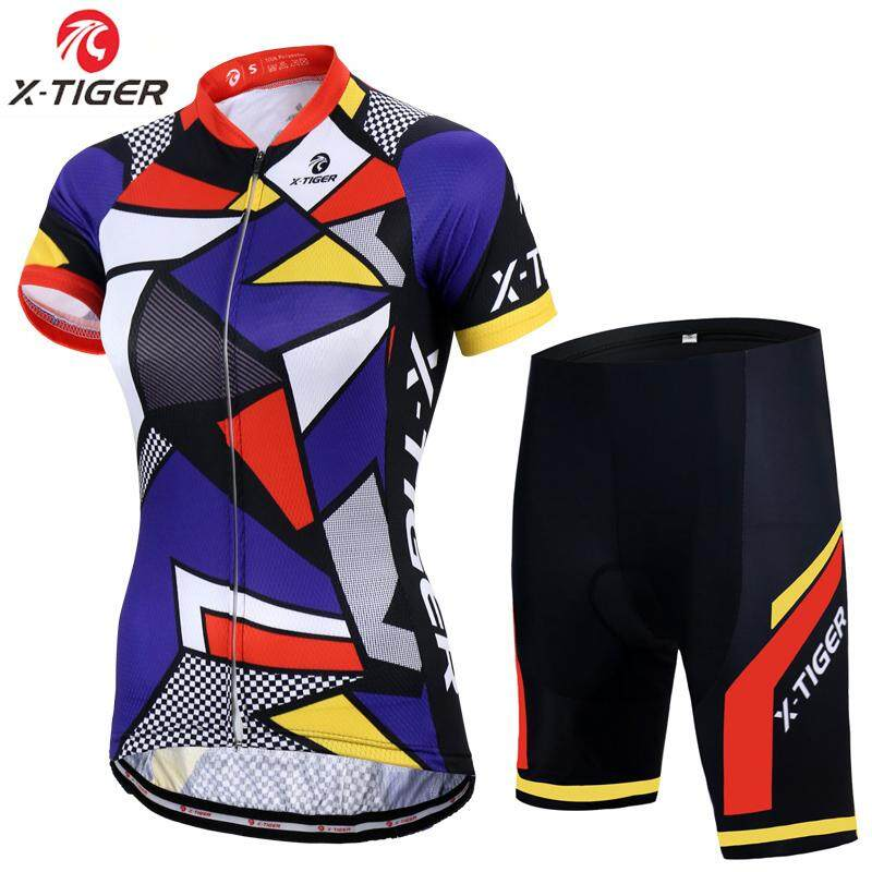 X-Tiger Women 100% Polyester Breathable Bicycle Clothes Summer Short Sleeve Cycling  Clothing Cycling b067960a5