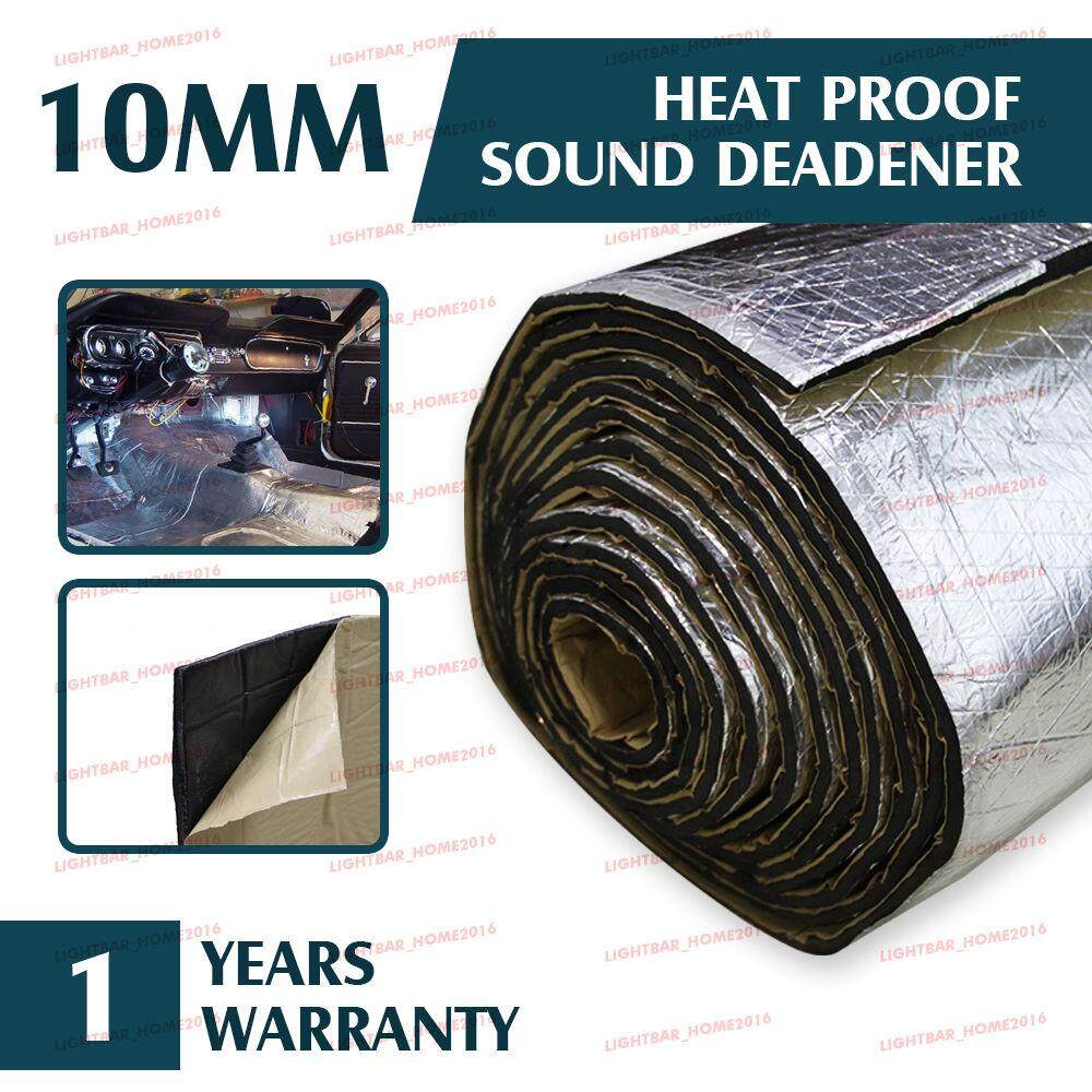 1m X 1.4m Alum Car Turbo Exhaust Insulation Heat Shield Block Self Adh Sheet Mat By Moonbeam.