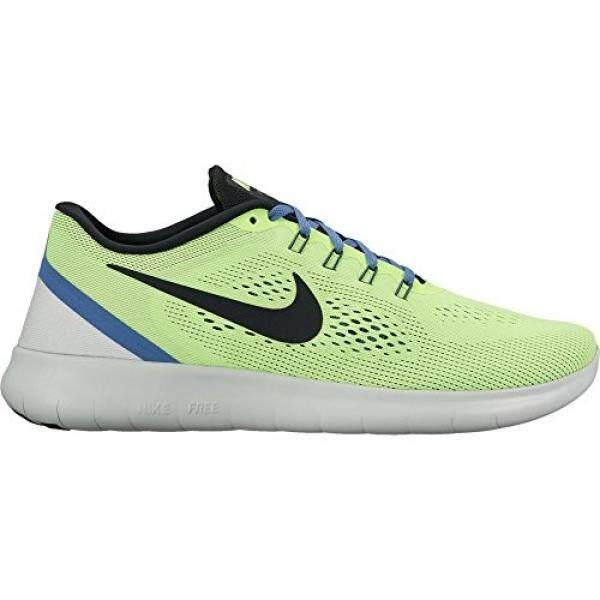 NIKE Mens Free RN Running Shoe (10.5, Ghost Green/Black-Blue Moon