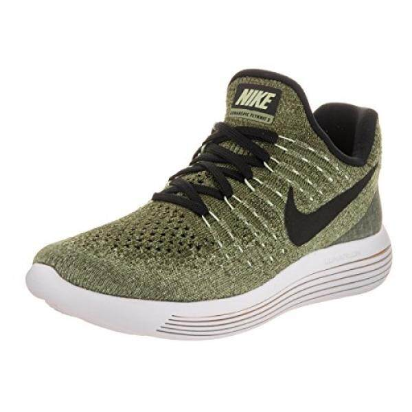 NIKE Womens Lunarepic Low Flyknit 2 Palm Green Black Vapor Green Running  Shoe 8 dea56c72fa64