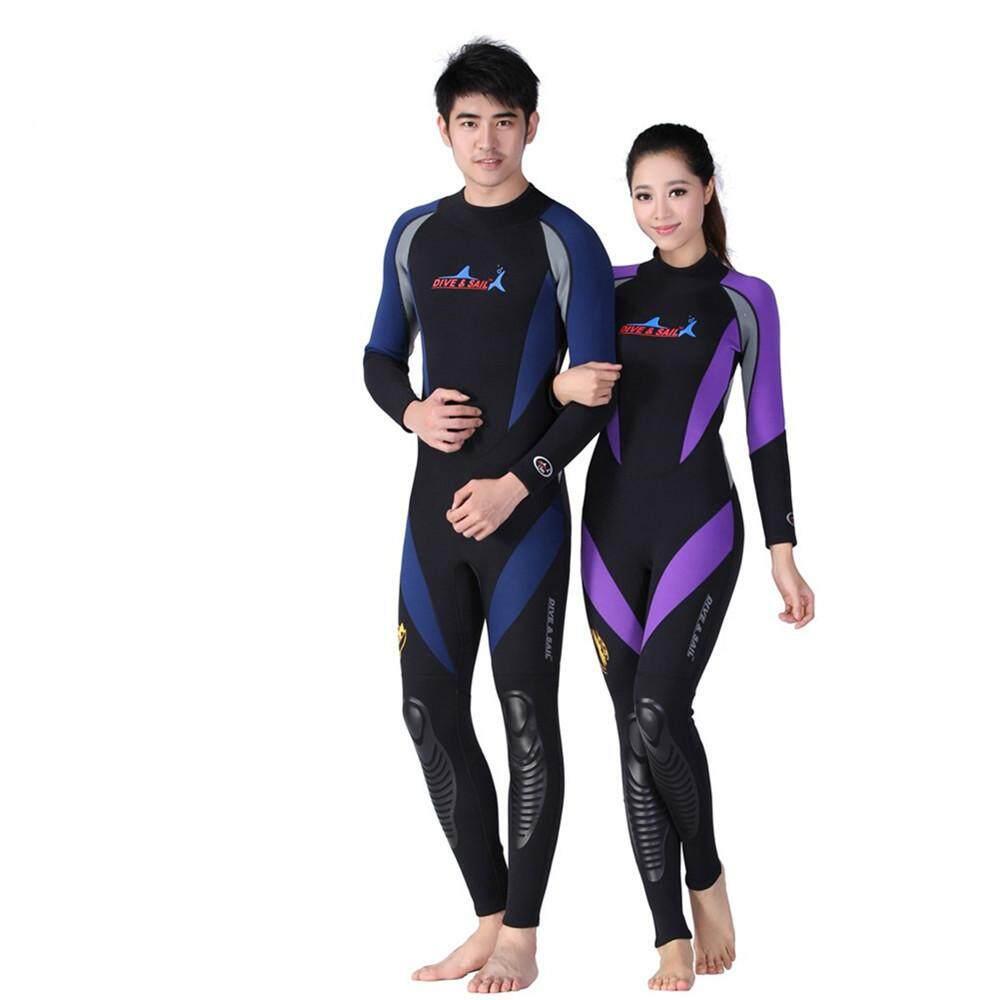 1.5 Mm Neoprene Lengan Panjang Satu Potong Indonesia Ngumpul Di Sini Wetsuit Pria Wanita Snorkeling Jumpsuit Penuh Badan Dive Setelan Hangat Musim Dingin berenang Berselancar-Internasional