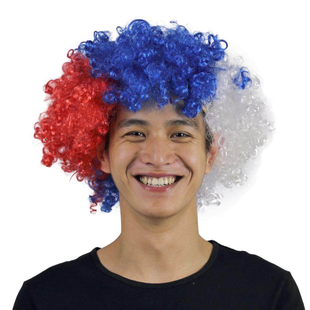 Creative European Cup World National Flags Colors False Hair Head Cover - intl