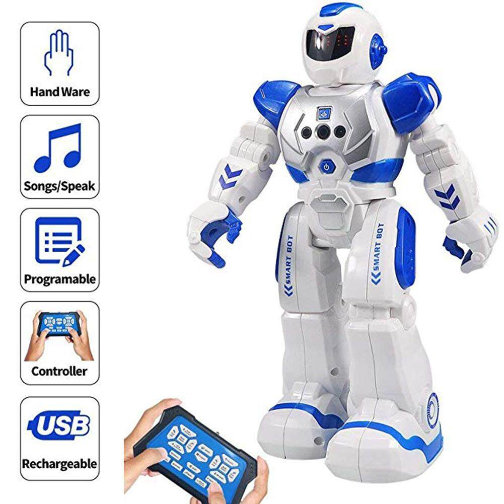 Intelligent Remote Control Robot for Kids Programmable Robot with Infrared Controller Toys Dancing Singing LED Eyes