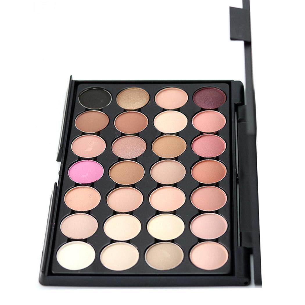 Azone Mini Portabel 28 Warna Eyeshadow Riasan Kosmetik Warna Tidak Mengkilap Shimmer Alam Mata Shadow Palet dengan Eyeshadow Sikat-Internasional