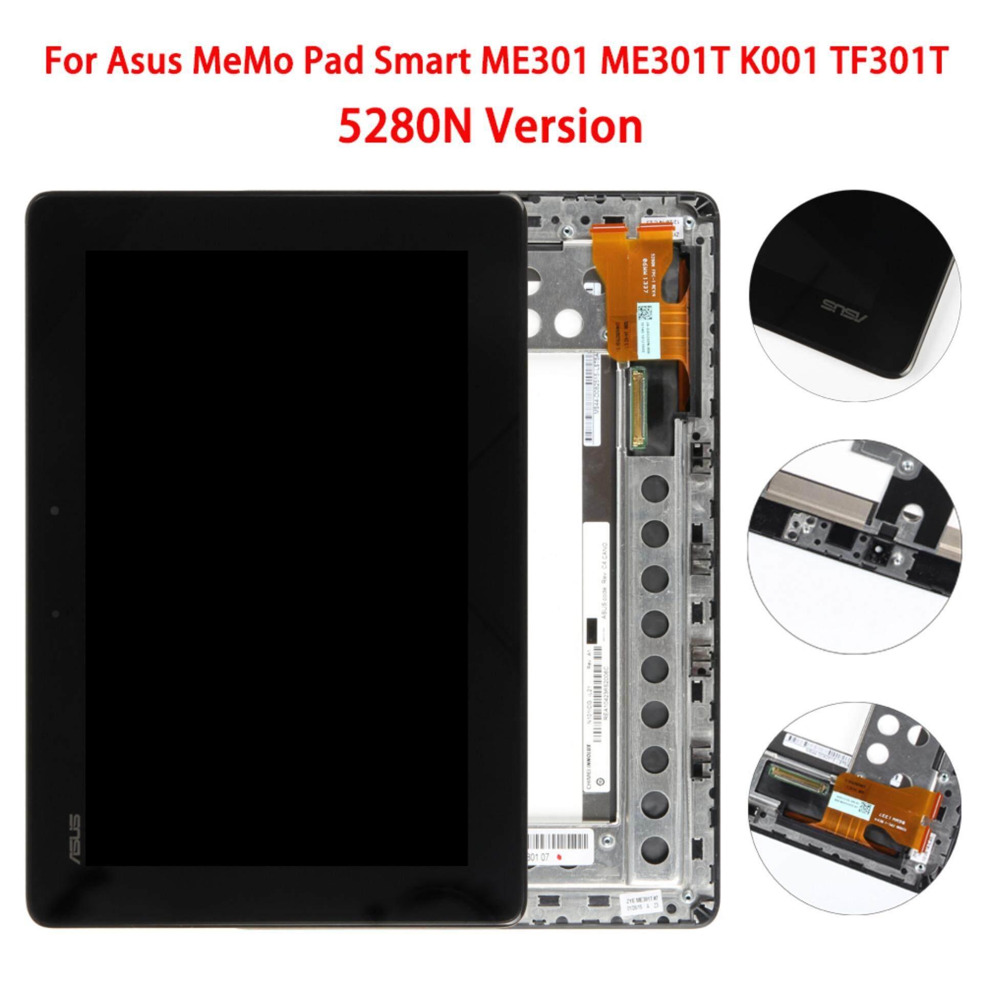 Untuk Asus Memo Alas Pintar ME301 ME301T K001 TF301T Layar LCD Sentuh Digitizer dengan Bingkai, 5280N Versi-Internasional