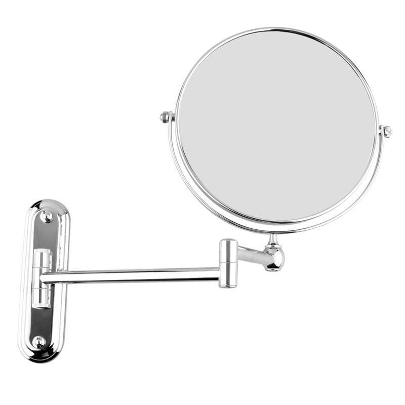 Silver Extending 8 inches cosmetic wall mounted make up mirror shaving bathroom mirror 3x Magnification Philippines