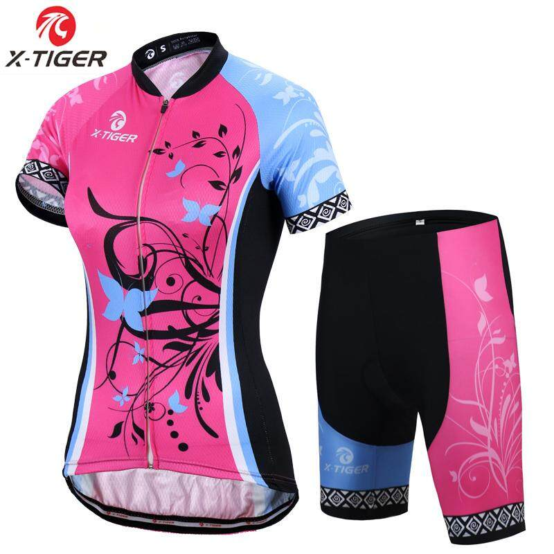 X-Tiger Adina Short Sleeve Breathable MTB Bike Clothing Women Bicycle  Clothes 100% Polyester 32a501beb