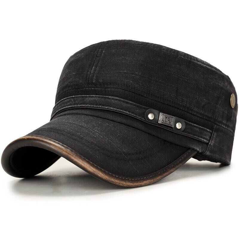 dd63623b784 Mens Cotton Outdoors Solid Sunshade Baseball Cap Flat Service Fashion Hat  Winter Windproof