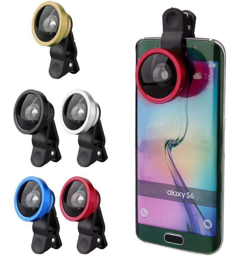 Universal 0.4X Super Wide Angle Conversion Selfie Cam Lens Clip on for iPhone/HTC/Samsung/LG/Oppo/Vivo/XiaoMi etc. (Red)