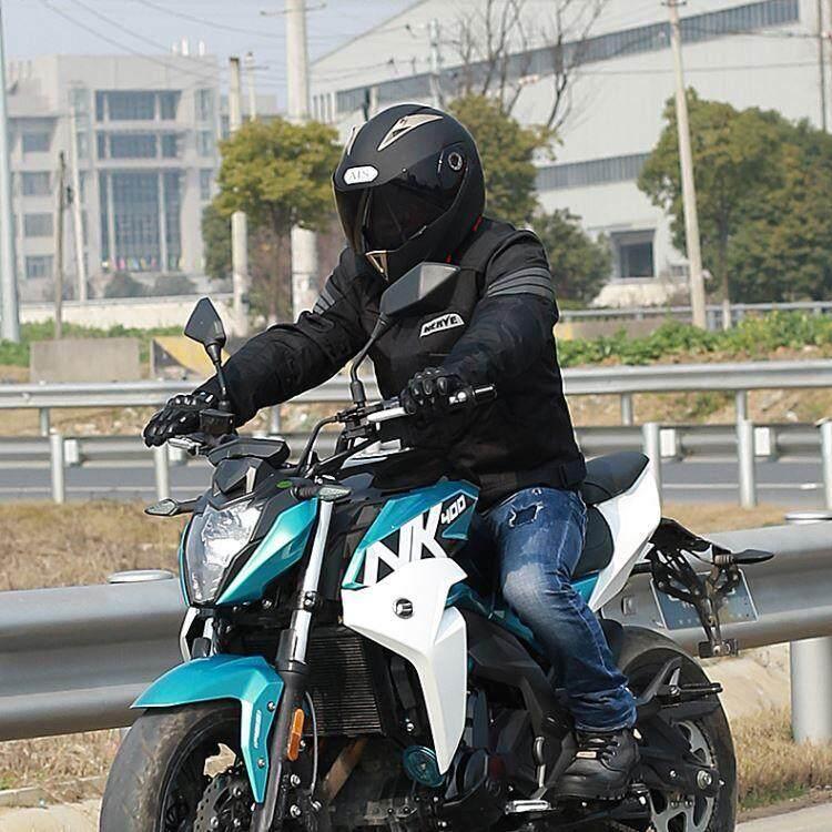 YN Helm Sepeda Motor Pria Penuh Helm Tertutup Empat Musim Helm Wajah Terbuka .