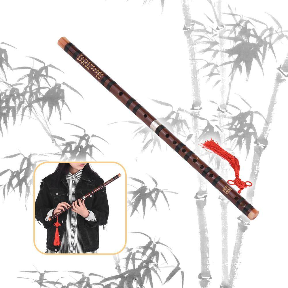 D Key Chinese Traditional Instrument Dizi Bitter Bamboo Flute With Chinese Knot For Beginners - Intl By Tomtop.