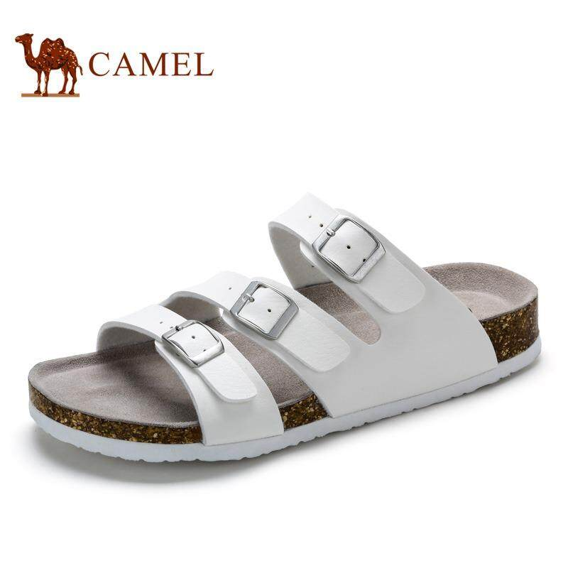Camel Men's Fashion Casual Slippers Comfort Shoes For Spring and  Summer(Blue and white)